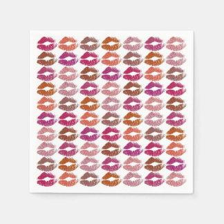Stilvolle bunte Lippen #12 Papierserviette
