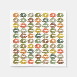 Stilvolle bunte Lippen #32 Papierservietten