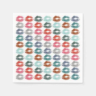 Stilvolle bunte Lippen #33 Papierservietten