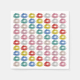 Stilvolle bunte Lippen #36 Papierserviette