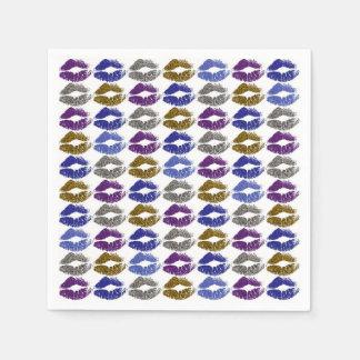 Stilvolle bunte Lippen #40 Papierservietten