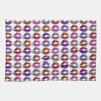 Stilvolle bunte Lippen #4 Geschirrtuch