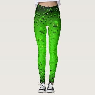 Stilvolle coole grüne Wassertropfen Leggings