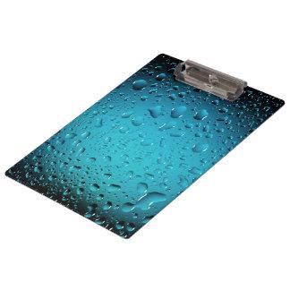 Stilvolle coole Tropfen des blauen Wassers Klemmbrett