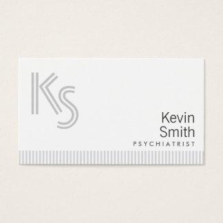 Stilvolle einfache weiße Psychiaters-Visitenkarte Visitenkarte