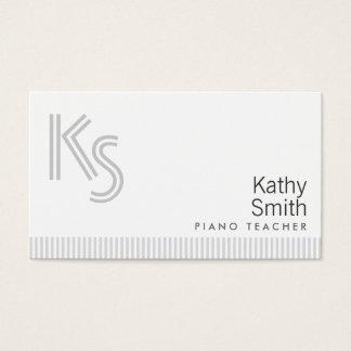 Stilvolle einfache weiße visitenkarte