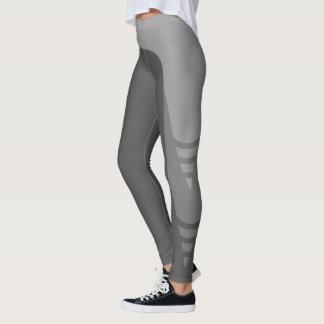 Stilvolle einfarbige Detail-Muster-Gamaschen Leggings
