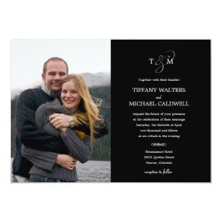 Stilvolle Etzeichen-Hochzeits-Foto-Einladung 12,7 X 17,8 Cm Einladungskarte