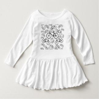 Stilvolle Fahrrad-Collage Kleid