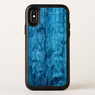 Stilvolle frisch gefärbte blaue handgemachte OtterBox symmetry iPhone x hülle