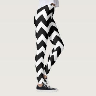 Stilvolle Gamaschen der Designer: Schwarzweiss Leggings