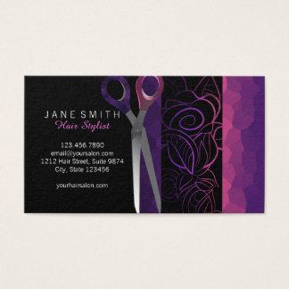 Stilvolle girly Rose scissor Verabredungskarte Visitenkarte