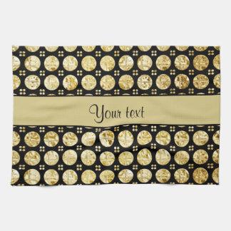 Stilvolle GoldImitat-Knöpfe Handtuch