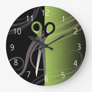 stilvolle grüne Friseursalonuhr Uhren