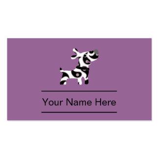Stilvolle Haustierpflege-Visitenkarten Visitenkarten