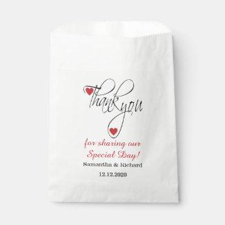 Stilvolle Hochzeit danken Ihnen Süßigkeit Geschenktütchen