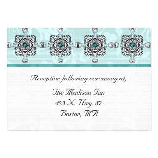 Stilvolle Hochzeitseinschließungskarten Visitenkarte