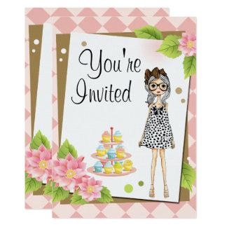 Stilvolle jugendlich Mädchen-Geburtstags-Party Karte