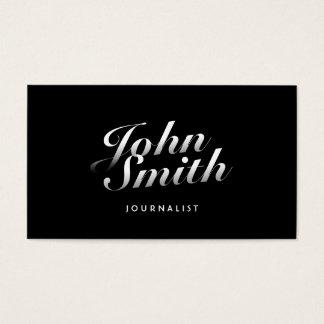 Stilvolle kalligraphische Journalist-Visitenkarte Visitenkarte