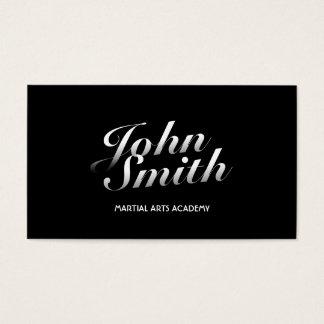 Stilvolle kalligraphische Kampfkunst-Visitenkarte Visitenkarte