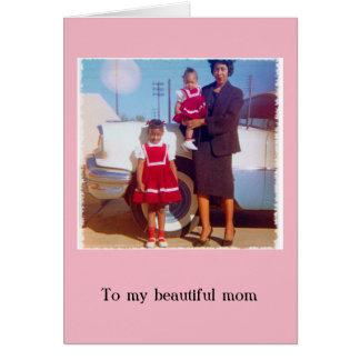 Stilvolle Karte der Afroamerikaner-Mutter Tages