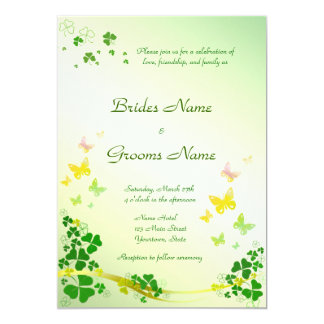 Stilvolle Kleeblatt-Hochzeits-Einladung 12,7 X 17,8 Cm Einladungskarte