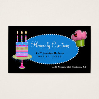 Stilvolle Kuchen-und Kuchen-Bäckerei-Visitenkarte Visitenkarte
