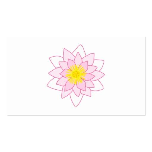 stilvolle lotus blume visitenkarten zazzle. Black Bedroom Furniture Sets. Home Design Ideas