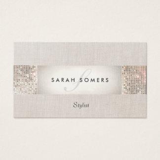 Stilvolle moderne silberne visitenkarte
