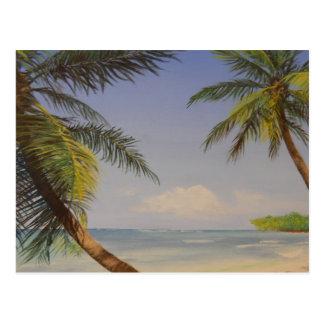 Stilvolle Palme Postkarte