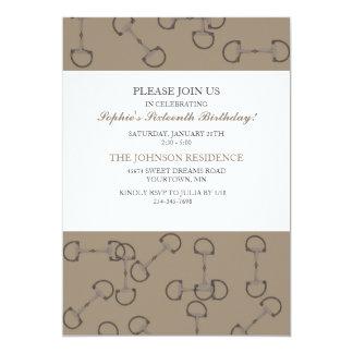 Stilvolle Pferdestückchen-Geburtstags-Party 12,7 X 17,8 Cm Einladungskarte