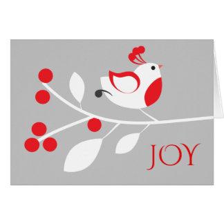 Stilvolle Rebhuhn-Freude-Weihnachtsgruß-Karte Karte