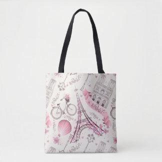 Stilvolle rosa Turm-Taschen-Tasche Paris Eiffel Tasche