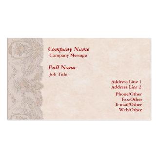 Stilvolle Rosen-Grenzgeschäfts-Karten-Schablone Visitenkarten