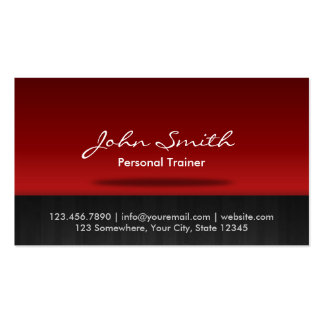 Stilvolle rote Bühne-Trainer-Geschäfts-Karte Visitenkarten