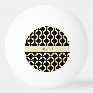 Stilvolle Schwarz-u. Goldquadrate Tischtennis Ball