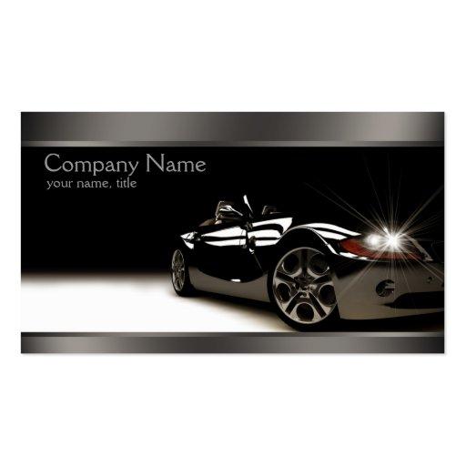 Stilvolle schwarze AutomobilVisitenkarte Visitenkarten Vorlagen