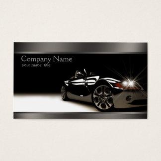 Stilvolle schwarze AutomobilVisitenkarte Visitenkarte