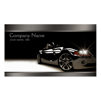 Stilvolle schwarze AutomobilVisitenkarte Visitenkarten