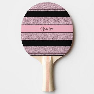 Stilvolle schwarze u. lila Glitter-Streifen Tischtennis Schläger