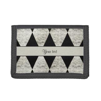 Stilvolle schwarze u. silberne Glitter-Diamanten