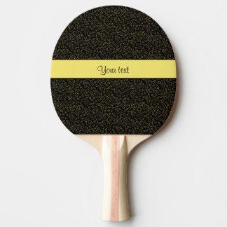 Stilvolle schwarzer u. gelber Glitter-Ministerne Tischtennis Schläger