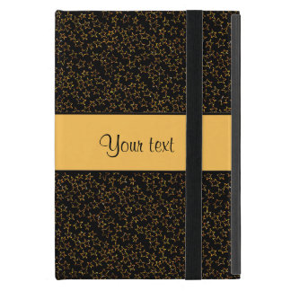 Stilvolle schwarzer u. orange Glitter-Ministerne Hülle Fürs iPad Mini