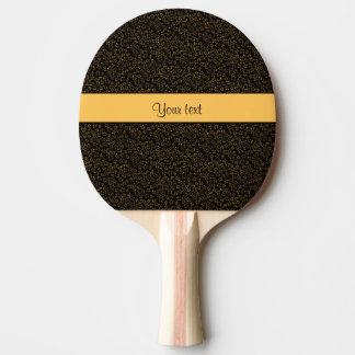 Stilvolle schwarzer u. orange Glitter-Ministerne Tischtennis Schläger