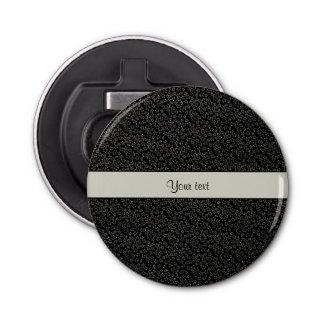 Stilvolle schwarzer u. silberner flaschenöffner