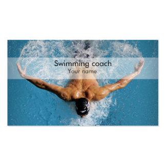 Stilvolle Schwimmentrainer-Visitenkarte