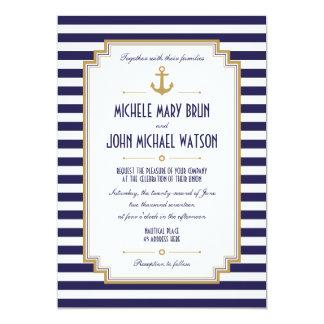 Stilvolle Seehochzeits-Einladung 12,7 X 17,8 Cm Einladungskarte
