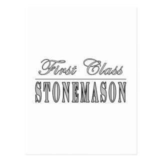 Stilvolle Steinmetze: Klassen-Steinmetz Postkarte