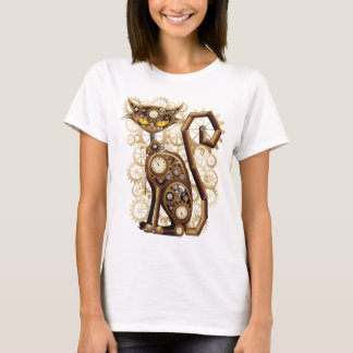 Stilvolle surreale Steampunk Katze T-Shirt