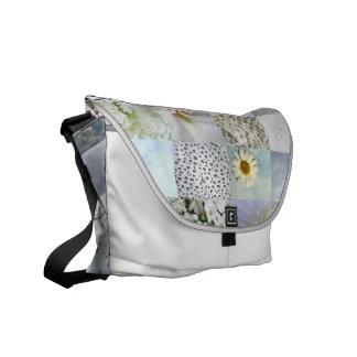 Stilvolle weiße Foto-Collagen-Tasche Kuriertaschen